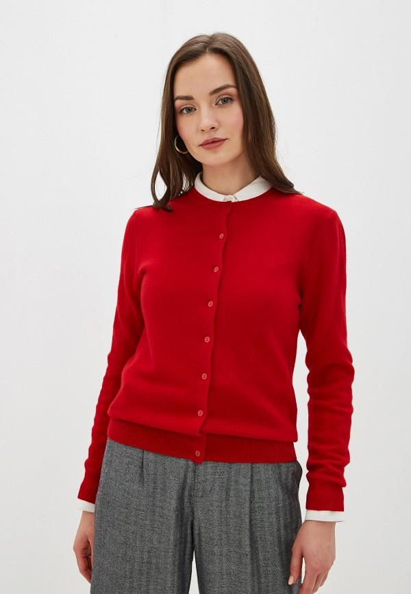 женский кардиган united colors of benetton, красный