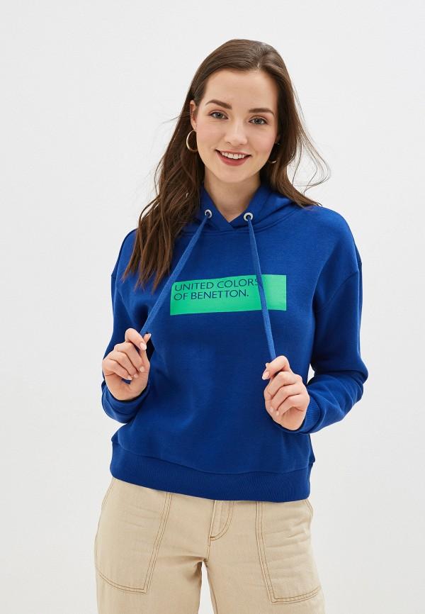 женские худи united colors of benetton, синие