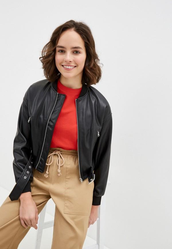 женская куртка united colors of benetton, черная