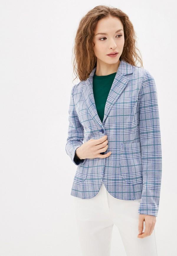 женский пиджак united colors of benetton, голубой