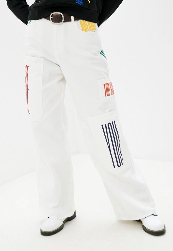 женские джинсы клеш united colors of benetton, белые