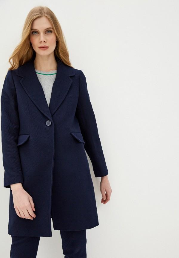 женское пальто united colors of benetton, синее