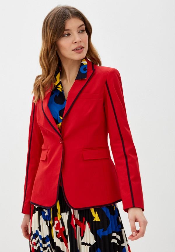 женский пиджак united colors of benetton, красный