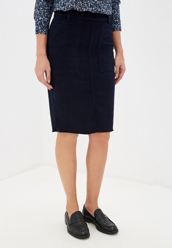 женская зауженные юбка united colors of benetton, синяя