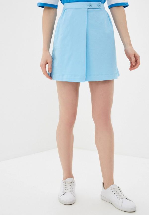 женская юбка united colors of benetton, голубая