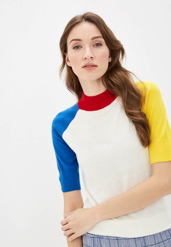 женский джемпер united colors of benetton, белый