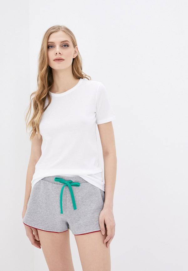 женская футболка united colors of benetton, белая