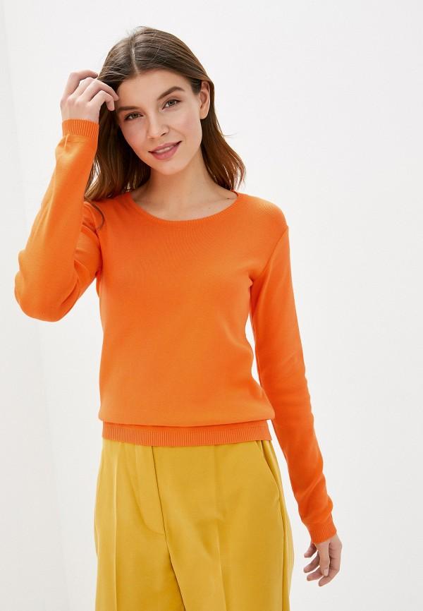 женский джемпер united colors of benetton, оранжевый