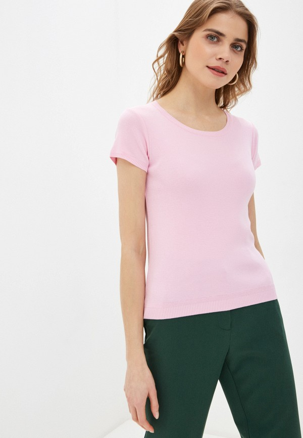 женский джемпер united colors of benetton, розовый