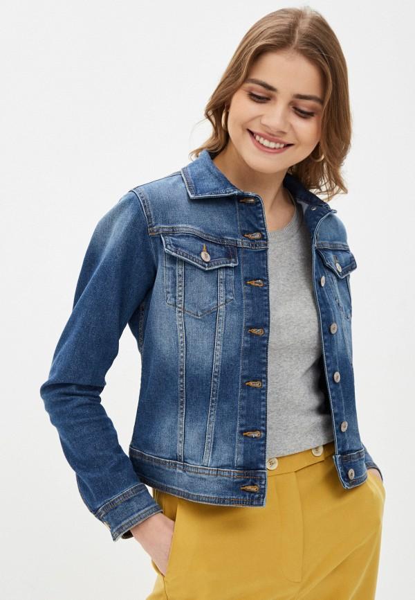 женская джинсовые куртка united colors of benetton, синяя