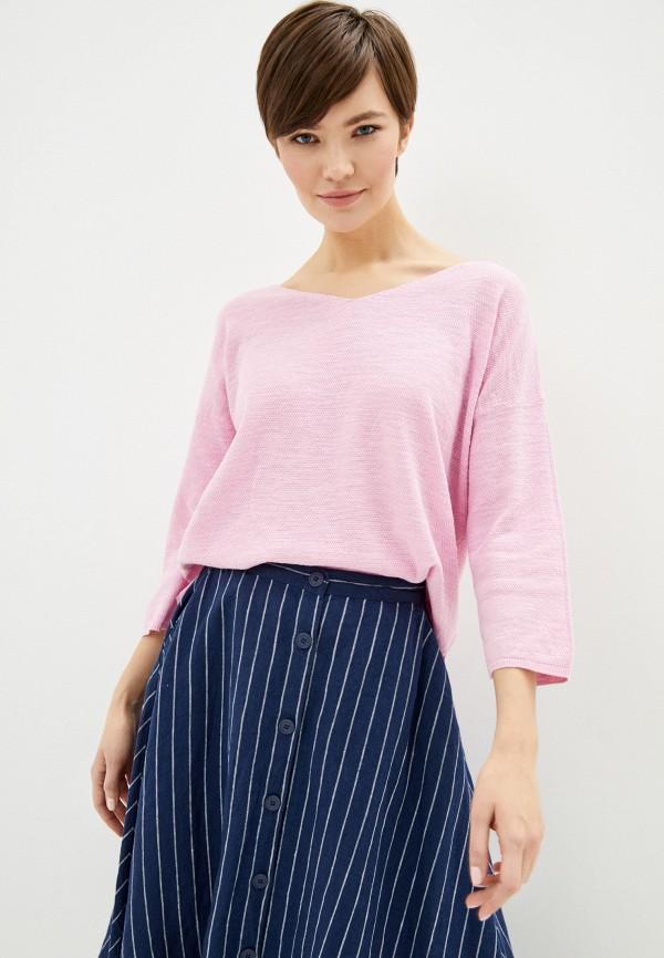 женский пуловер united colors of benetton, розовый