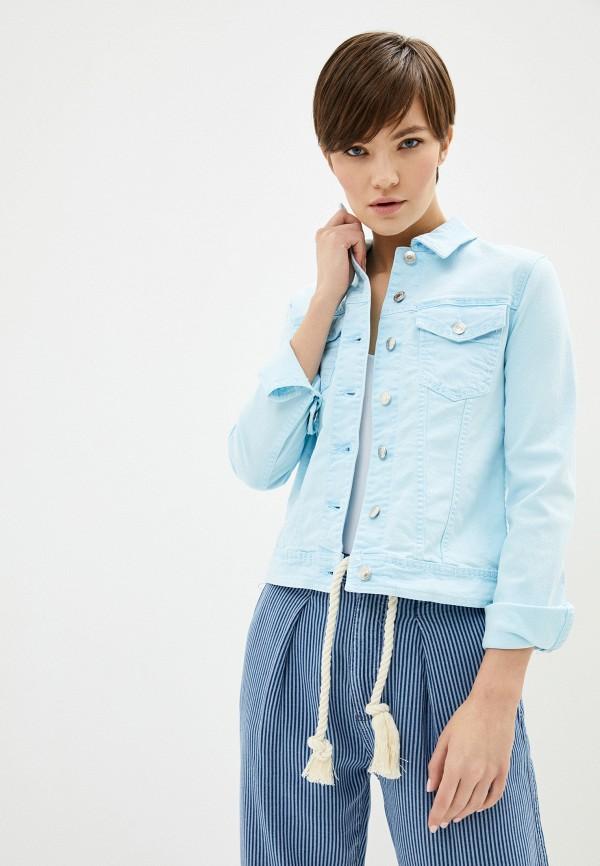 женская джинсовые куртка united colors of benetton, голубая