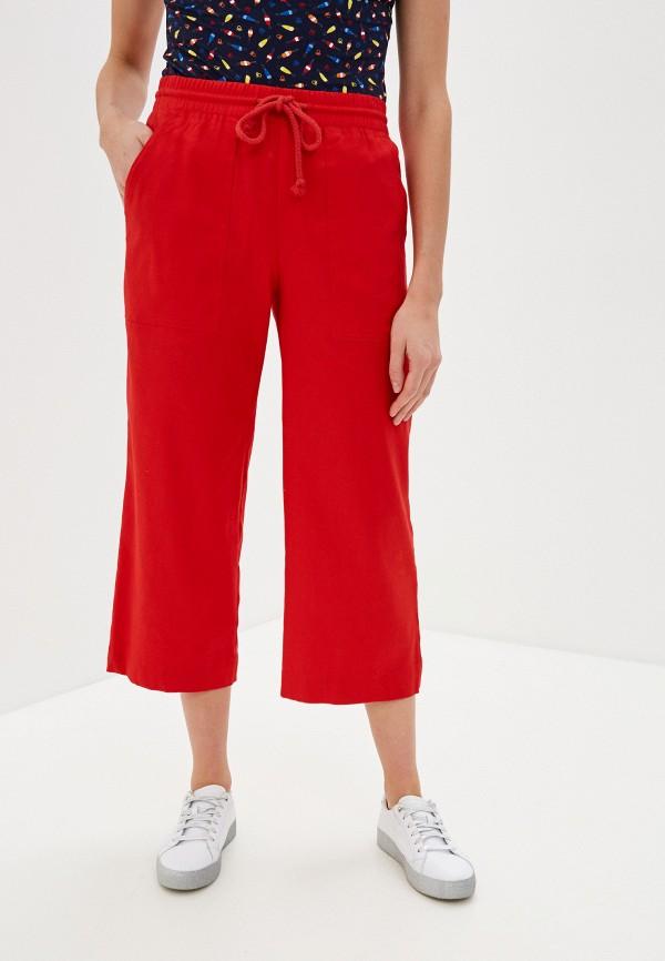 женские брюки кюлоты united colors of benetton, красные