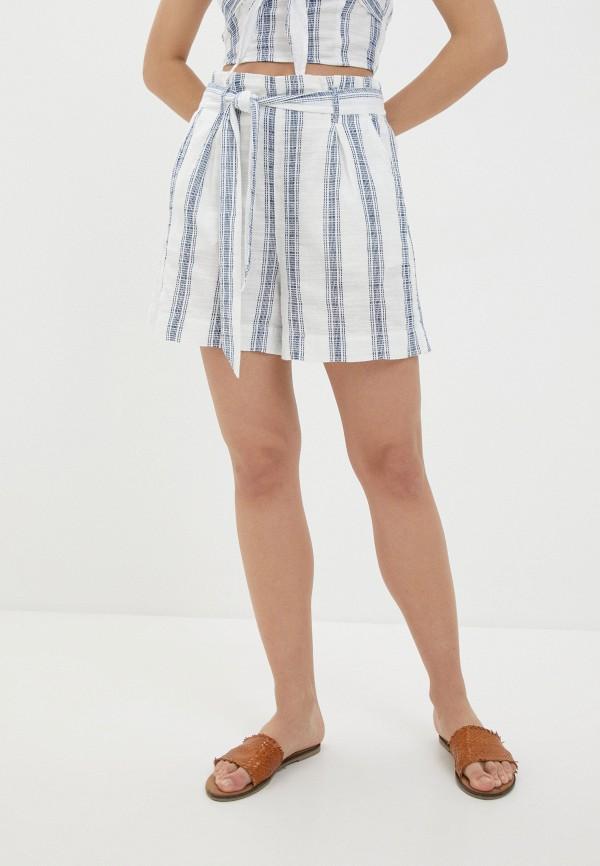 женские повседневные шорты united colors of benetton, белые