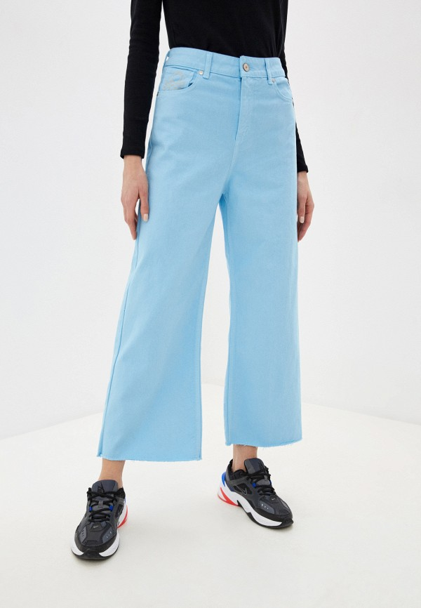 женские джинсы клеш united colors of benetton, голубые