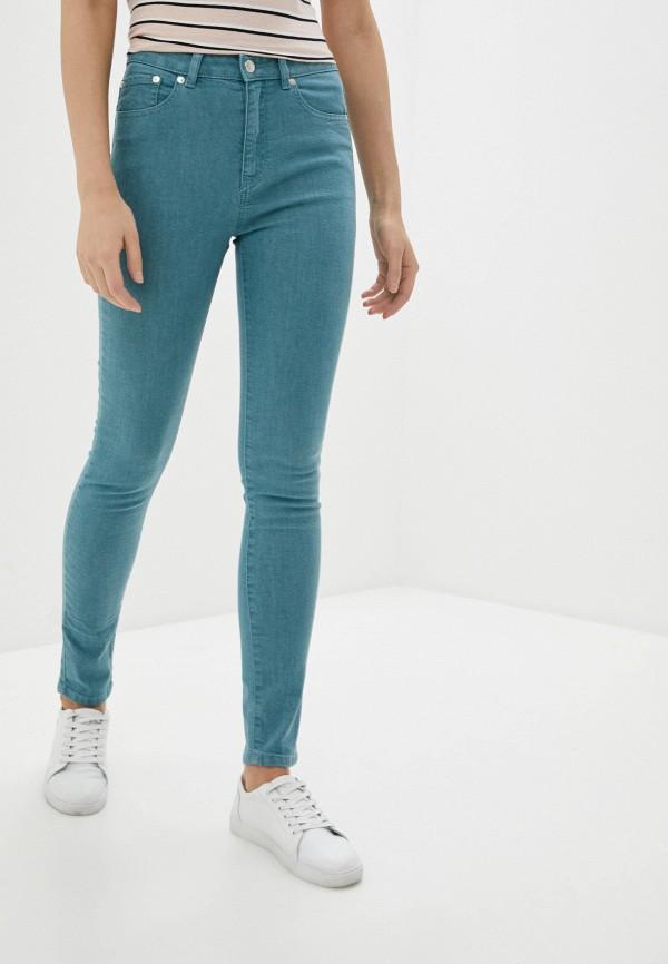 женские джинсы скинни united colors of benetton, бирюзовые