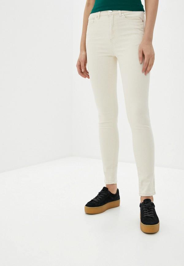 женские джинсы скинни united colors of benetton, белые