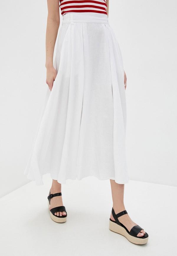 женская юбка united colors of benetton, белая