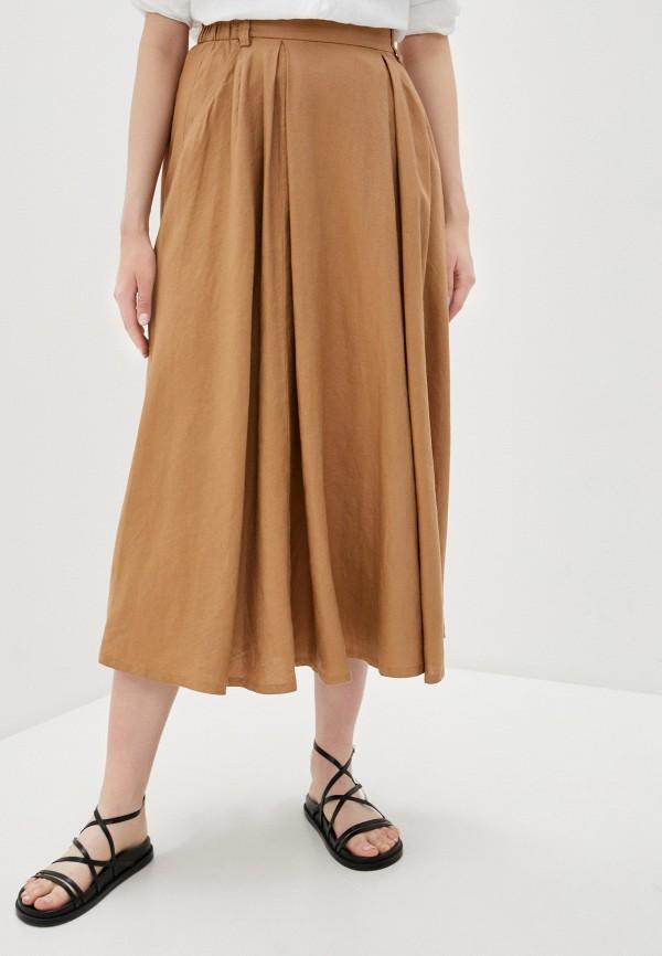 женская юбка united colors of benetton, бежевая