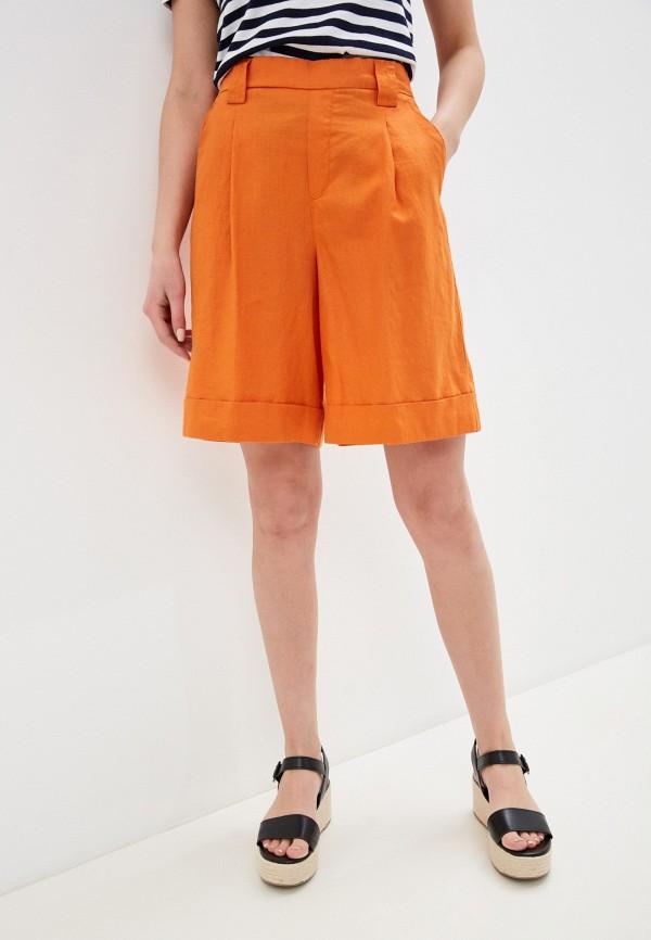 женские повседневные шорты united colors of benetton, оранжевые