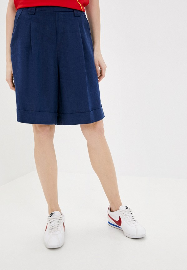 женские повседневные шорты united colors of benetton, синие