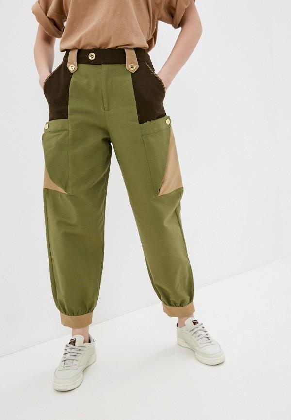 женские брюки карго united colors of benetton, хаки