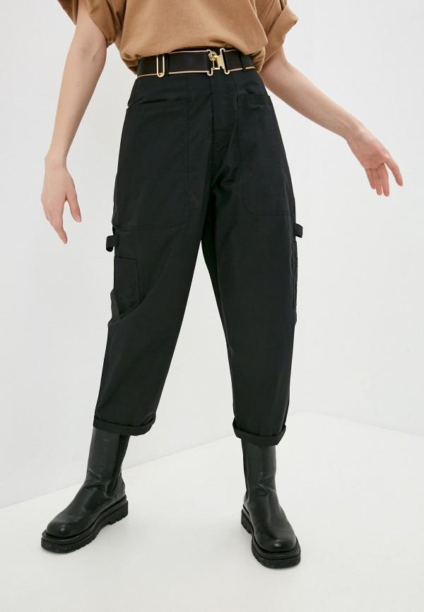 женские брюки карго united colors of benetton, черные