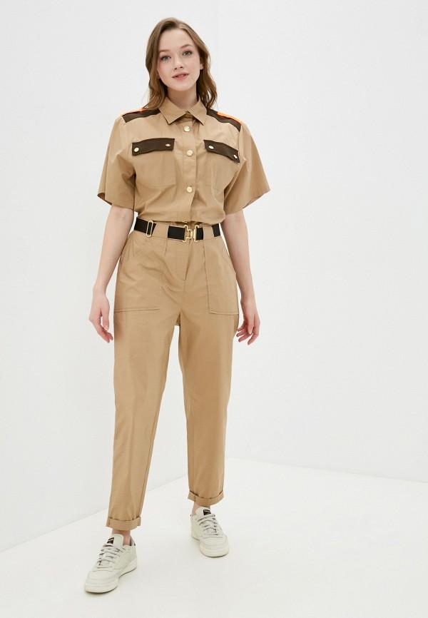 женский комбинезон с брюками united colors of benetton, бежевый