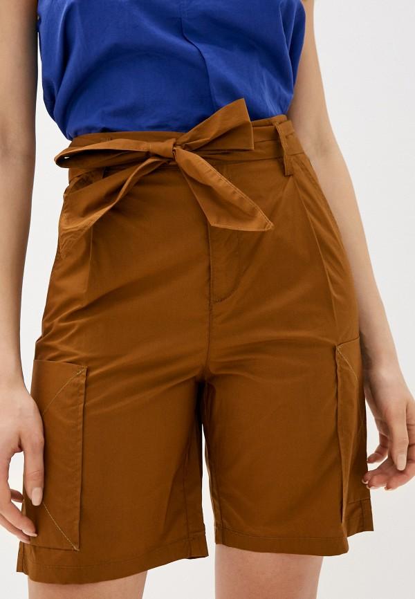 женские повседневные шорты united colors of benetton, коричневые