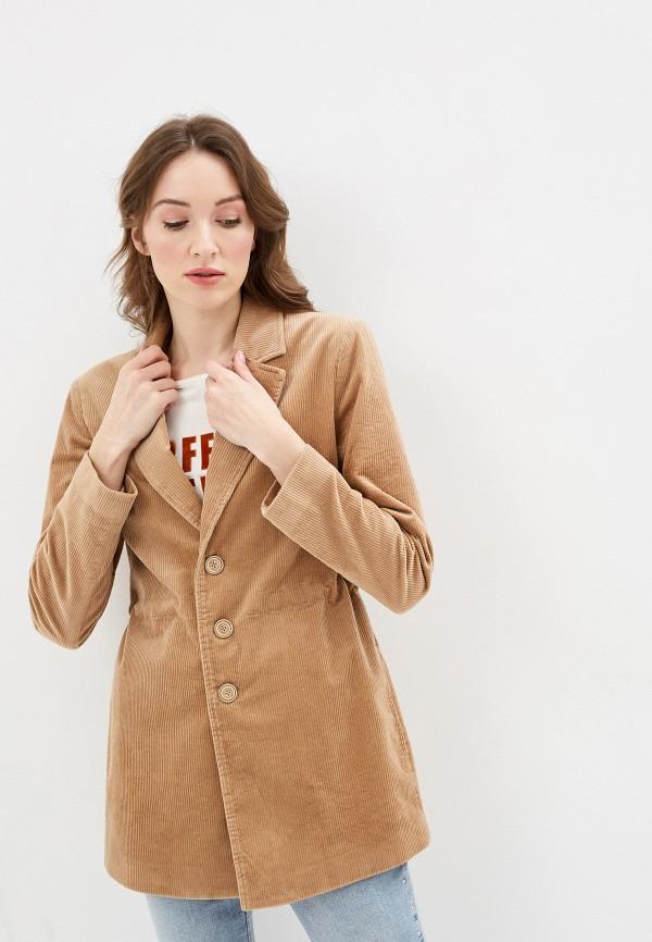 женский пиджак united colors of benetton, бежевый