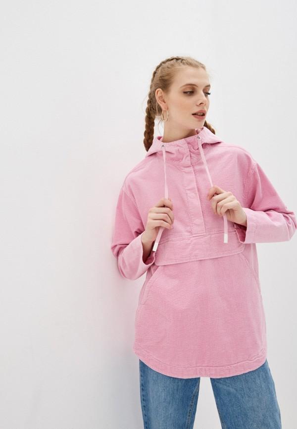 женская куртка united colors of benetton, розовая