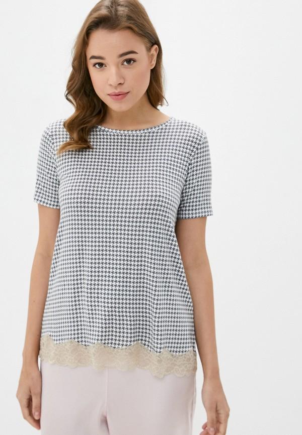 женская футболка united colors of benetton, серая