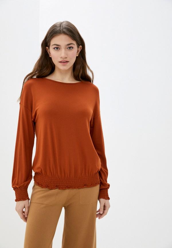 женский лонгслив united colors of benetton, коричневый