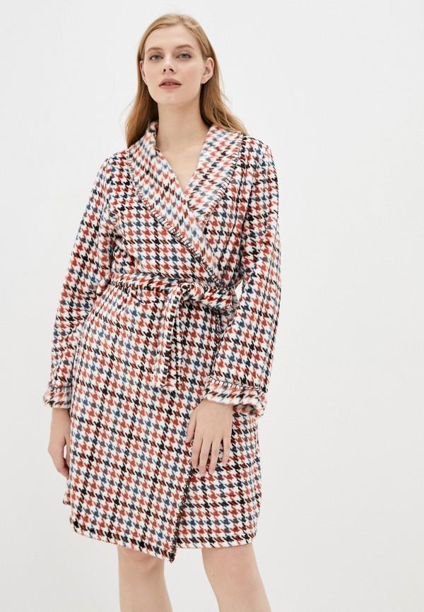 женский халат united colors of benetton, разноцветный