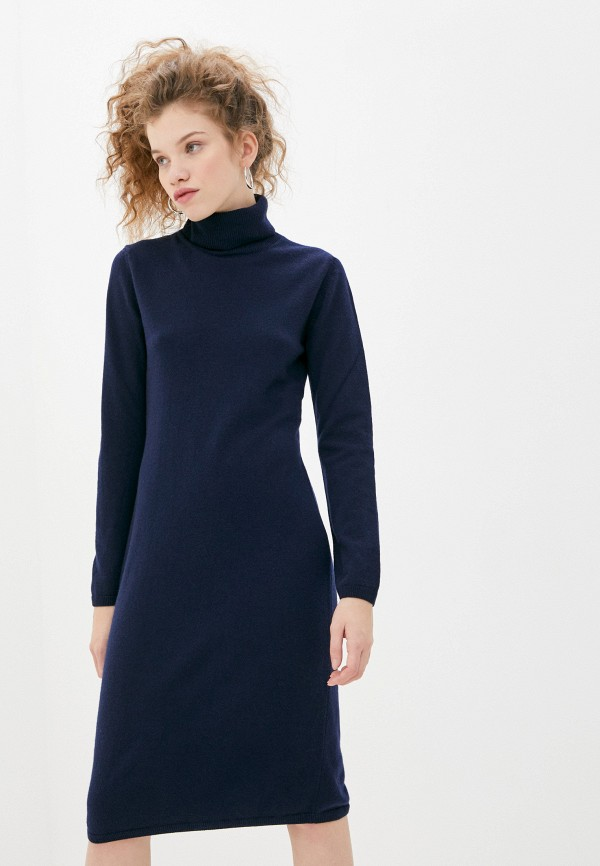 женское платье-свитеры united colors of benetton, синее