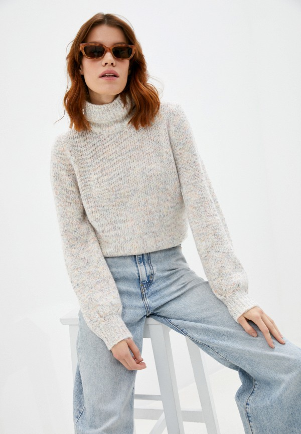 женский свитер united colors of benetton, бежевый