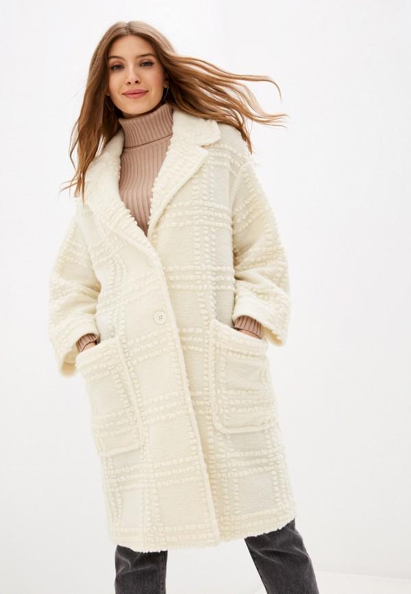 женское пальто united colors of benetton, белое