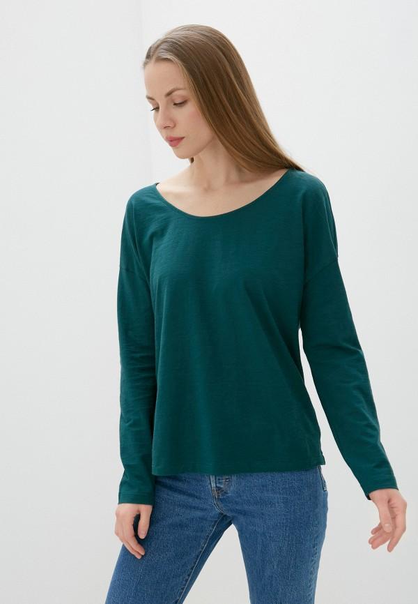 женский лонгслив united colors of benetton, зеленый