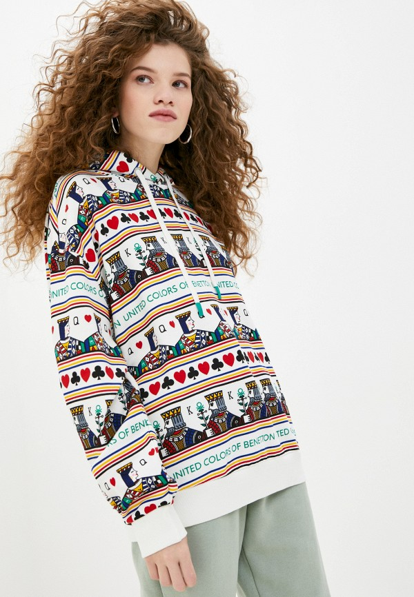 женские худи united colors of benetton, разноцветные
