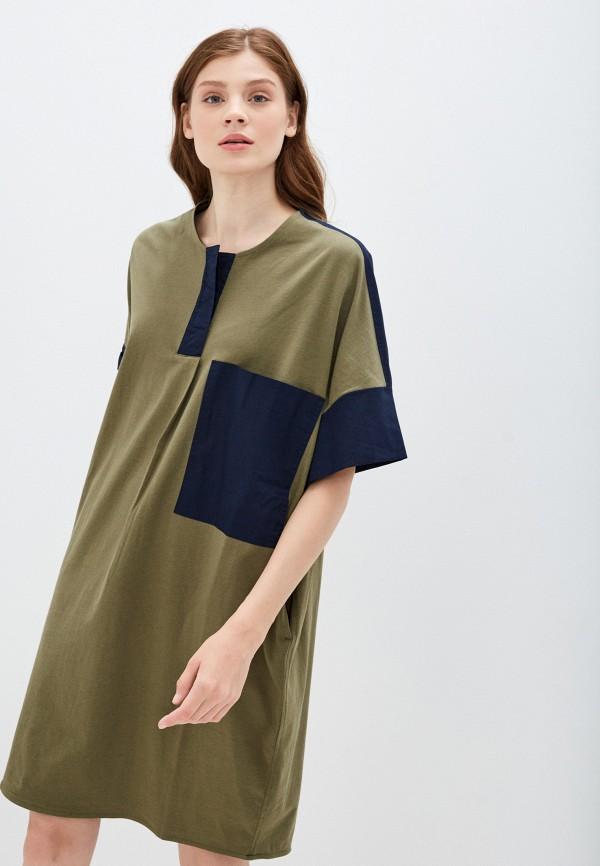 женское повседневные платье united colors of benetton, хаки