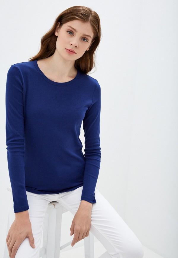 женский лонгслив united colors of benetton, синий