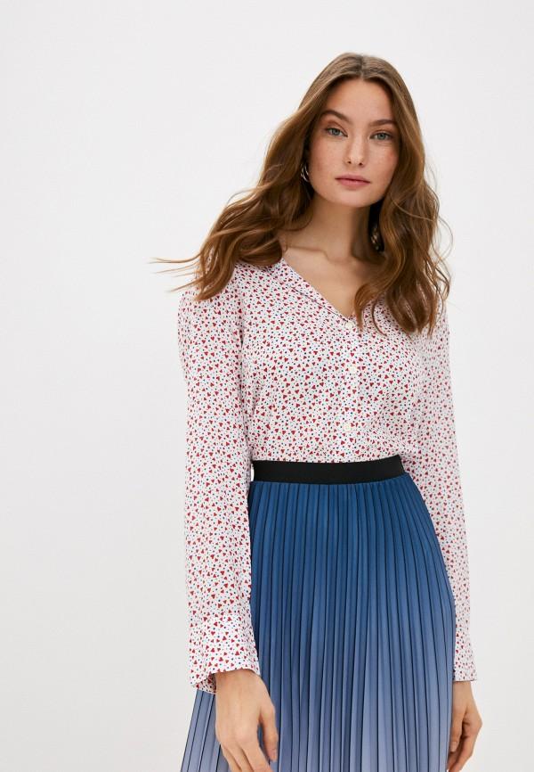 женская рубашка с длинным рукавом united colors of benetton, белая