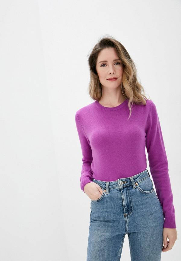 женский джемпер united colors of benetton, фиолетовый