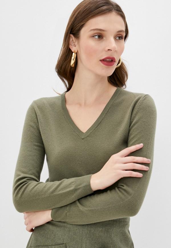 женский пуловер united colors of benetton, хаки