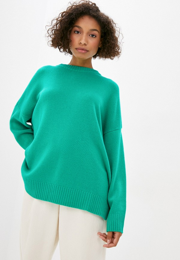 женский джемпер united colors of benetton, зеленый