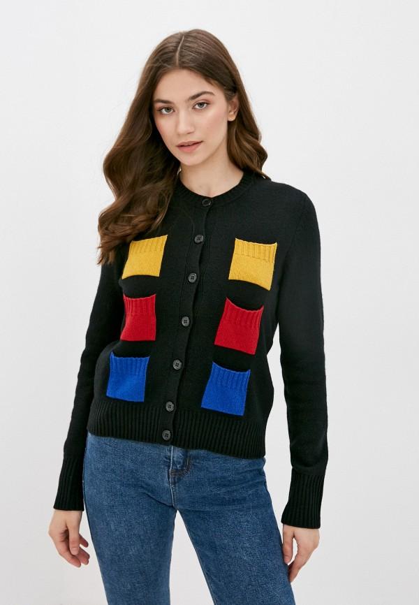 женский кардиган united colors of benetton, черный