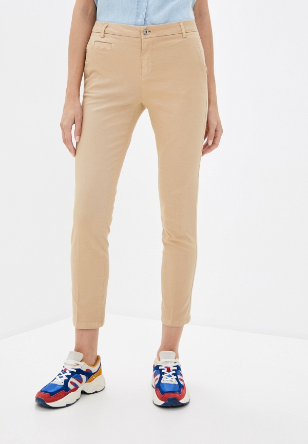 женские повседневные брюки united colors of benetton, бежевые