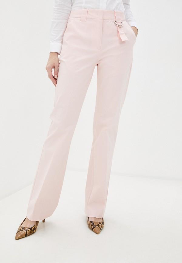 женские повседневные брюки united colors of benetton, розовые