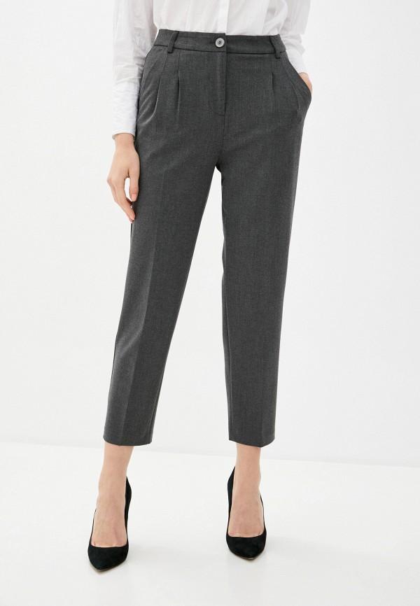 женские классические брюки united colors of benetton, серые