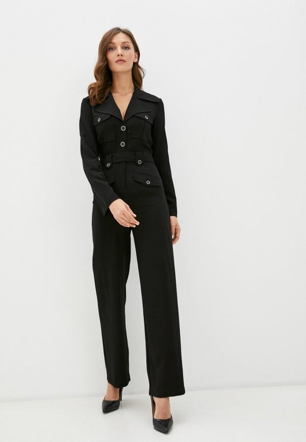 женский комбинезон с брюками united colors of benetton, черный